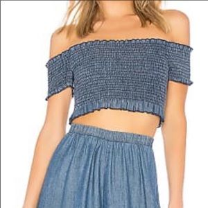 Show Me Your Mumu Truvy Smocked Crop Top